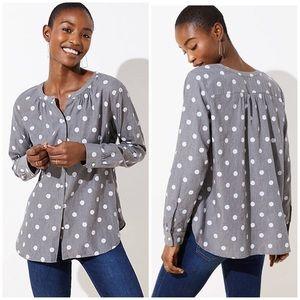 LOFT Dot Shirt